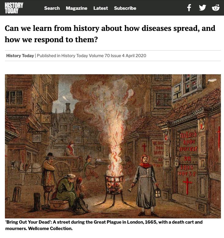coronacrisis historische analogieën