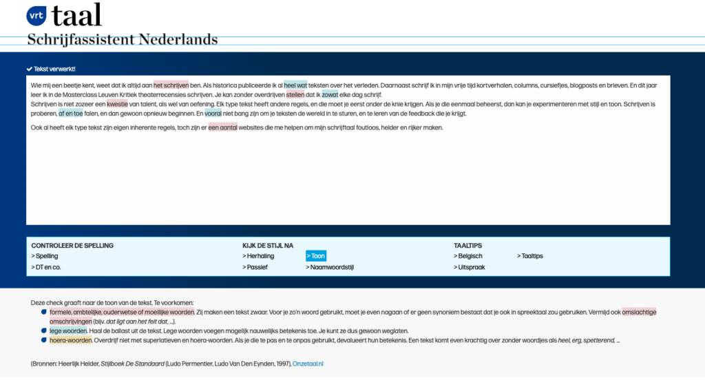 Websites betere teksten schrijven Schrijfassistent